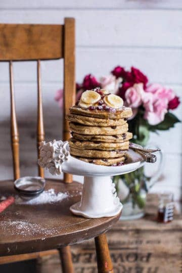Ricotta Chocolate Chip Banana and Chia Pancakes.