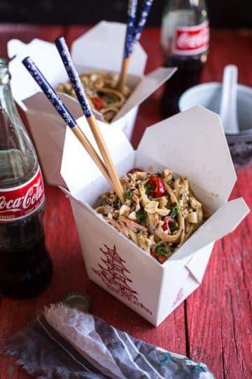 Spicy Sesame Basil Noodles.