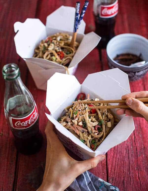Spicy Sesame Basil Noodles | halfbakedharvest.com @hbharvest