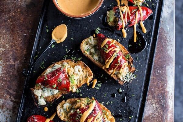 Cheesy Avocado Crab Stuffed Piquillo Pepper Ciabatta Pizzette's with ...