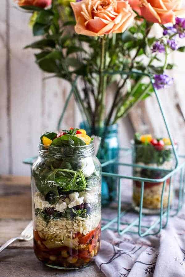 Easy Layered Mediterranean Orzo Pasta Salad | halfbakedharvest.com @hbharvest