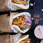 Greek Style Roasted Lamb Gyros with Harissa Spiced Tzatziki-1