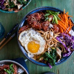 Korean Style Fried Shrimp Rice Bowls with Kimchi + Crunchy Noodles-7