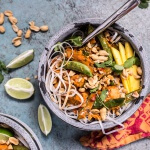 Springtime Thai Red Fish Curry Noodles.