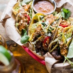 Bulgogi BBQ Pork Tacos with Charred Tomatillo Sesame Sauce + Spring Onion Slaw-1