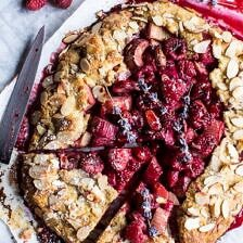 Lavender Honey and Raspberry-Rhubarb Galette.