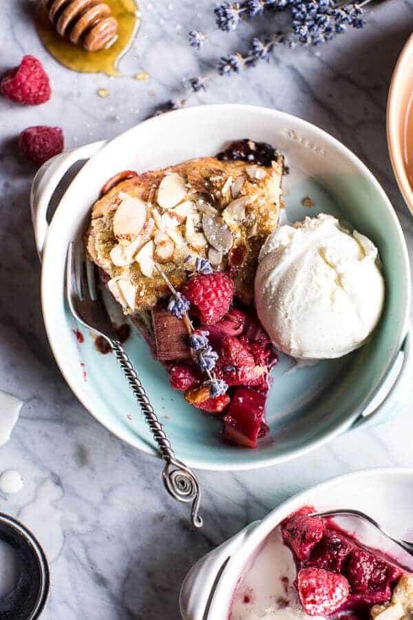 Lavender Honey and Raspberry-Rhubarb Galette   halfbakedharvest.com @hbharvest