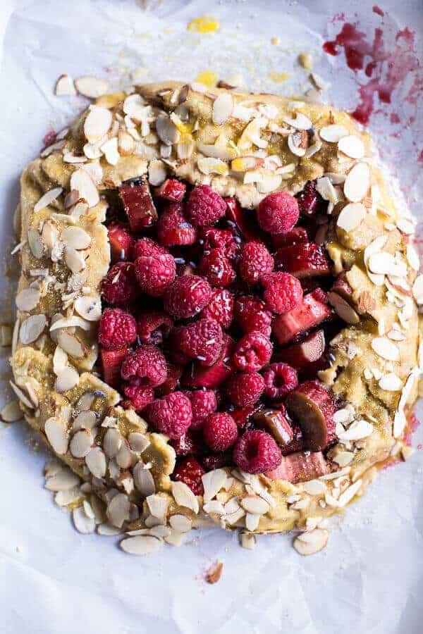 Lavender Honey and Raspberry-Rhubarb Galette | halfbakedharvest.com @hbharvest
