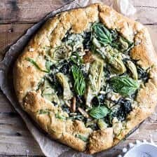 Spinach and Artichoke Galette.