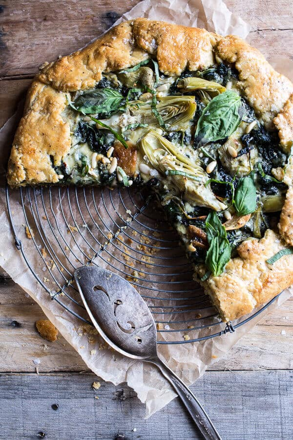 Spinach and Artichoke Galette | halfbakedharvest.com @hbharvest