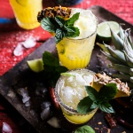 4-Ingredient Pineapple Lime Chelada (I made us a drink!) + Video.