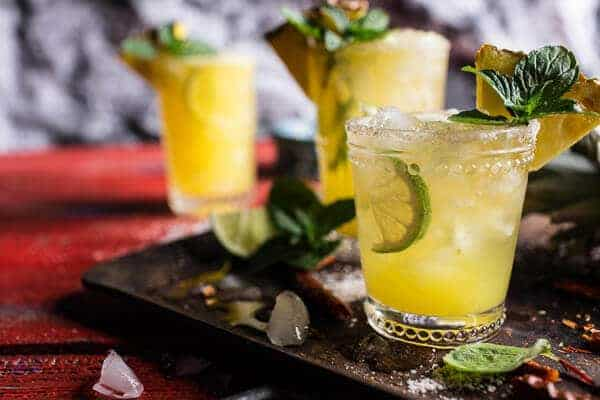 4-Ingredient Pineapple Lime Chelada (I made us a drink!) | halfbakedharvest.com @hbharvest