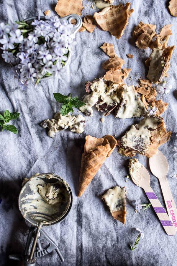 Pistachio Mint Chip Ice Cream | halfbakedharvest.com @hbharvest