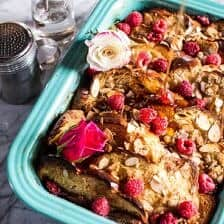 Raspberry Rose Baked French Toast.
