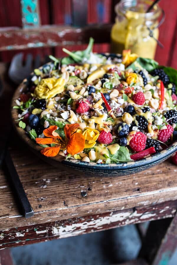 Very Berry Dream Salad with Chili Mango and Peanut Vinaigrette | halfbakedharvest.com @hbharvest