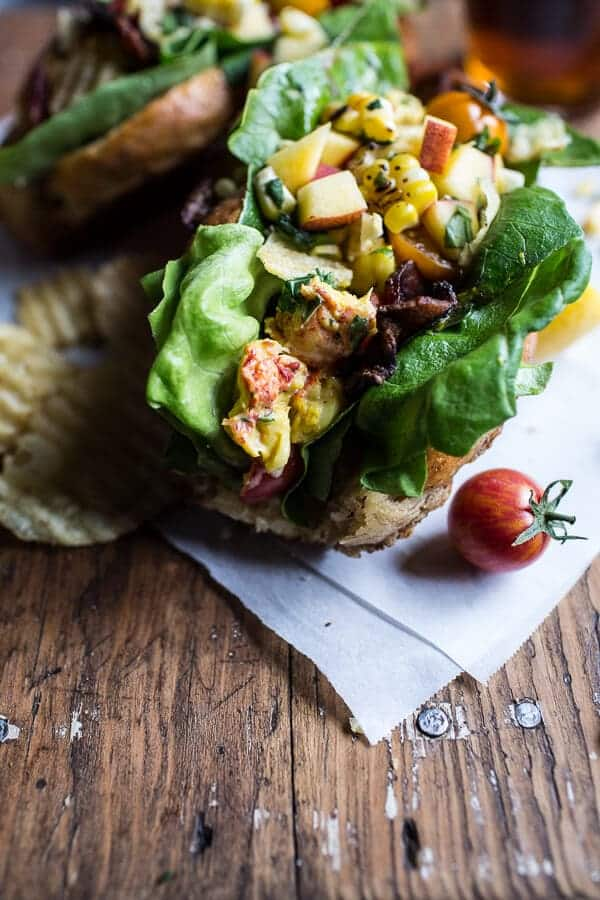 BLT and Potato Chip Lobster Rolls with Peach Salsa | halfbakedharvest.com @hbharvest