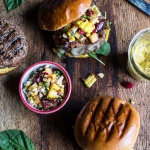 Brie Stuffed Burgers with Sweet Chili Corn Salsa + 4th of July Eats!
