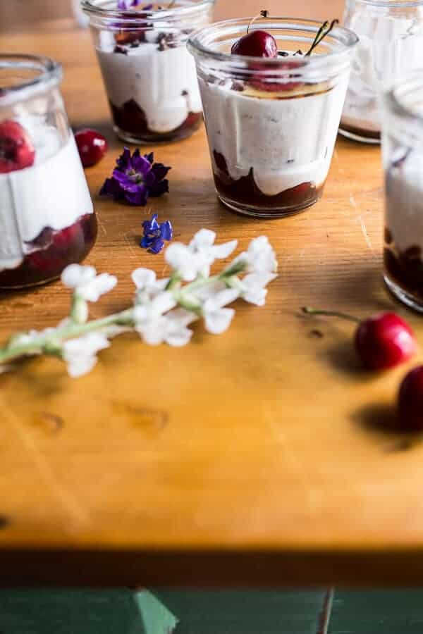 Cherry and Goat's Milk Coconut Mousse | halfbakedharvest.com @hbharvest