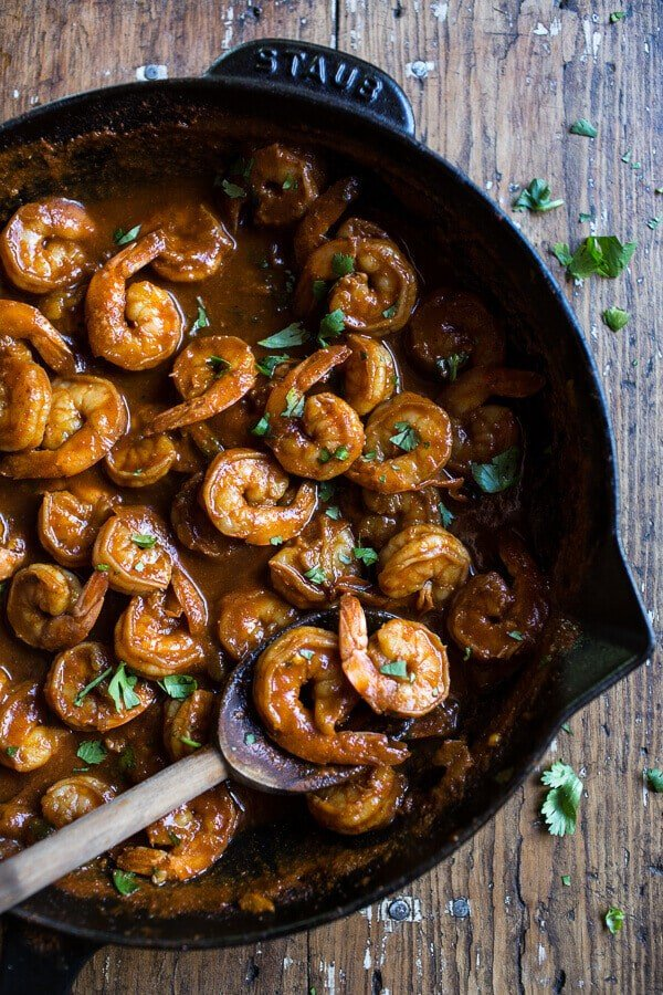 Chipotle Enchilada Shrimp with Rice and Beans | halfbakedharvest.com @hbharvest