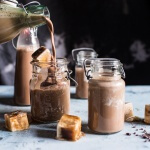 Chocolate Almond Milk with Creamy Malted Coffee Ice Cubes | halfbakedharvest.com @hbharvest