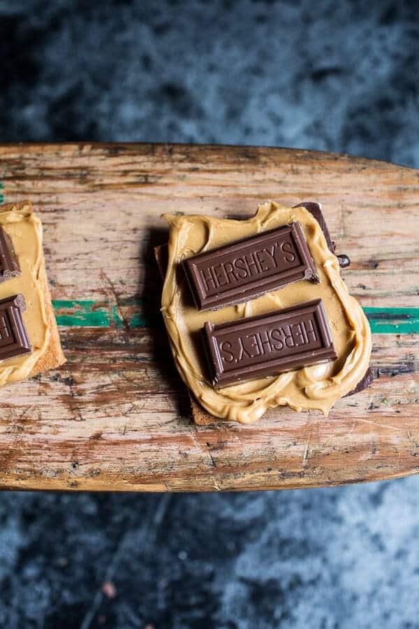 Chocolate Dipped Peanut Butter Espresso S'more | halfbakedharvest.com @hbharvest