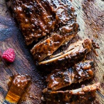 Crockpot Grilled Fiery Habanero Apricot BBQ Ribs.