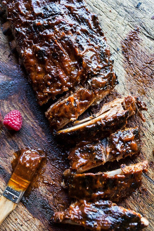 Crockpot Grilled Fiery Habanero Apricot BBQ Ribs | halfbakedharvest.com @hbharvest