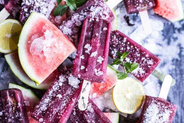 Ginger, Hibiscus and Minty Watermelon Popsicles | halfbakedharvest.com @hbharvest
