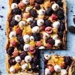 Honey Butter Stone Fruit and Blackberry Meringue Tart | halfbakedharvest.com @hbharvest