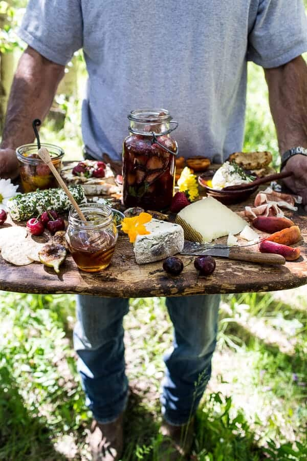 Killer Summer Cheeseboard (with pickled strawberries + herb roasted cherry tomatoes) | Fall DIY Picnic Food Ideas And Crafts To Do This Weekend