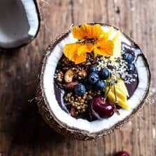 Summer Acai Bowl with Big Cluster Toasted Buckwheat Granola.