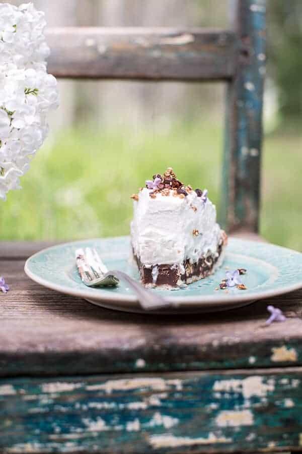 Miso Chocolate Fudge and Haupia (coconut pudding) Macaroon Pie   halfbakedharvest.com @hbharvest