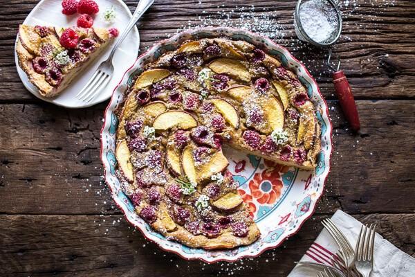 Raspberry, Nectarine and Sweet Corn Clafoutis | halfbakedharvest.com @hbharvest