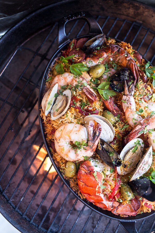 spanish style paella outdoor entertaining BBQ