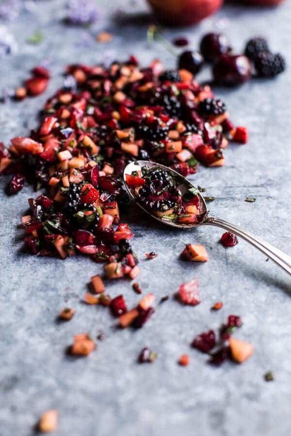 Summer Fruit Salsa and Pesto Hummus   halfbakedharvest.com @hbharvest