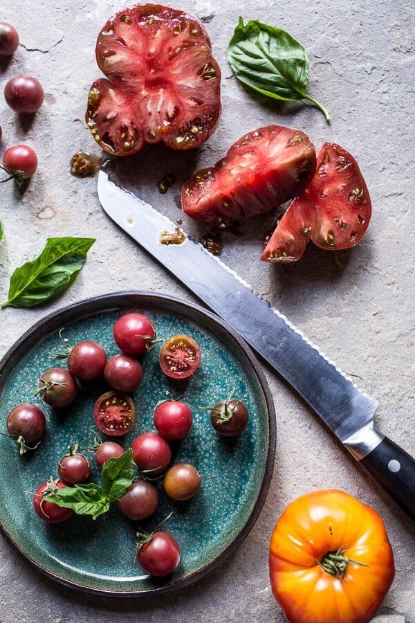 20 Minute Heirloom Tomato Basil Chicken Parmesan Bolognese | halfbakedharvest.com @hbharvest