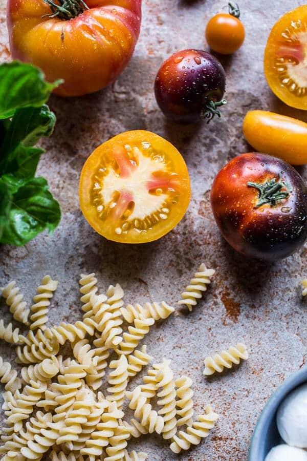 4-Cheese Caprese Mac and Cheese | halfbakedharvest.com @hbharvest