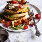 BLT Quark Pancakes with Chipotle Bourbon Dressing | halfbakedharvest.com @hbharvest