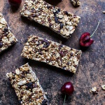 Chewy Cherry, Almond and Cacao Nib Granola Bars | halfbakedharvest.com @hbharvest