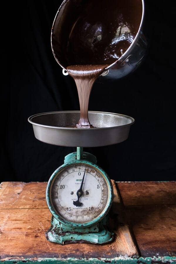 Chocolate Bourbon Caramel Macaron Cake…to Celebrate my little (kind of BIG) Secret!!   halfbakedharvest.com @hbharvest