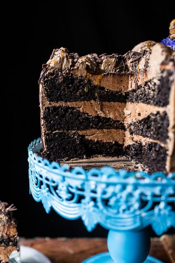 Chocolate Bourbon Caramel Macaron Cake…to Celebrate my little (kind of BIG) Secret!!-14