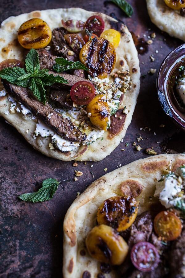 Grilled Lamb Tikka with Caramelized Apricots + Pine Nut Labneh | halfbakedharvest.com @hbharvest