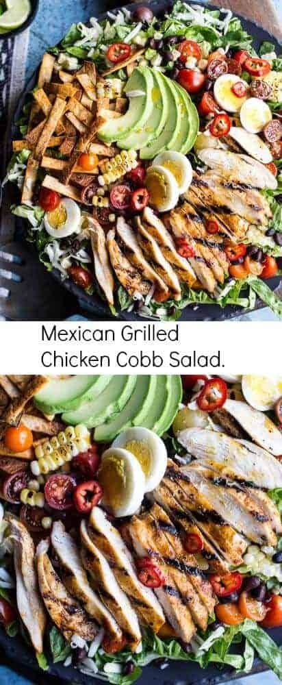 Mexican Grilled Chicken Cobb Salad | halfbakedharvest.com @hbharvest