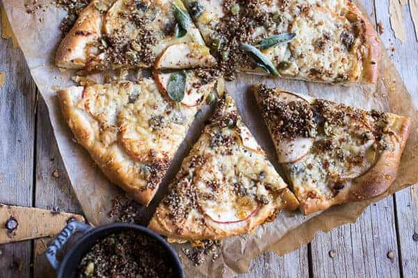 Apple and Caramelized Onion Pizza with Pumpkin Seed Pangrattato | halfbakedharvest.com @hbharvest
