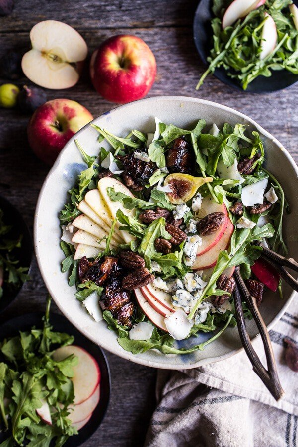 Bacon-Wrapped Fig and Honeycrisp Salad