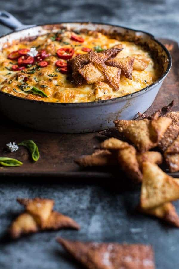 Cheesy Miso Caramelized Corn and Pineapple Chile Dip | halfbakedharvest.com @hbharvest