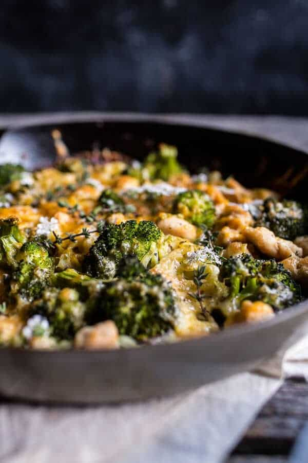 Chicken and Broccoli Skillet Bake | halfbakedharvest.com @hbharvest