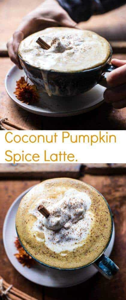 Coconut Pumpkin Spice Latte | halfbakedharvest.com @hbharvest
