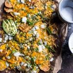 Crispy Buffalo Cheddar Potato Nachos | halfbakedharvest.com @hbharvest
