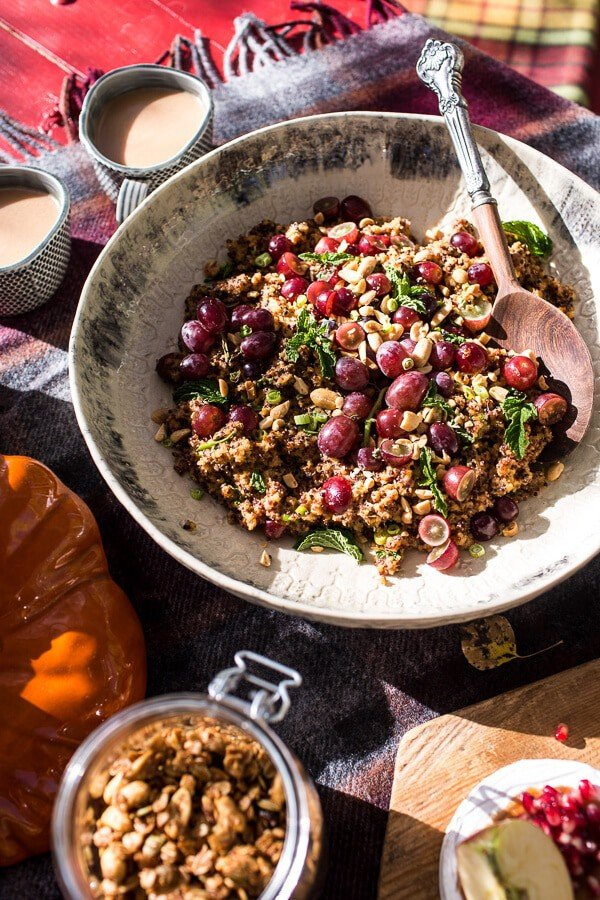 Thai Grape and Peanut Quinoa Salad | halfbakedharvest.com @hbharvest